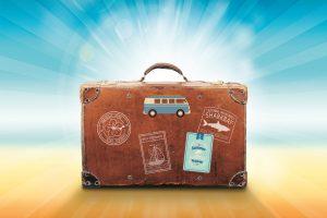 brun kuffert
